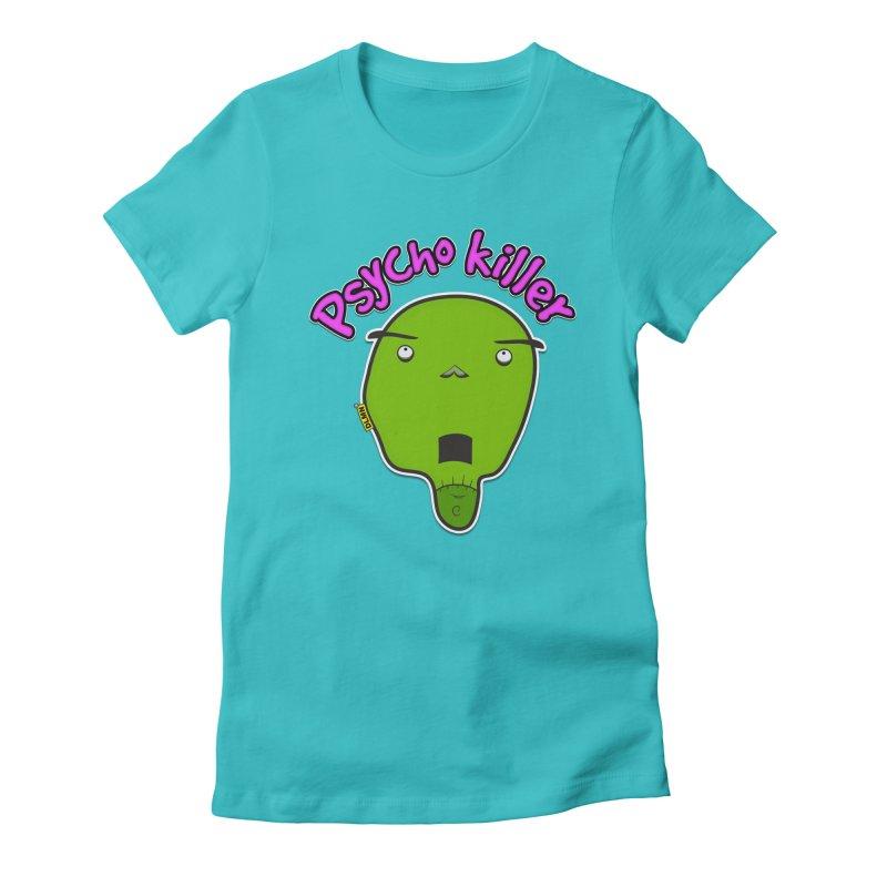 Psycho killer (alone) Women's Fitted T-Shirt by mrdelman's Artist Shop