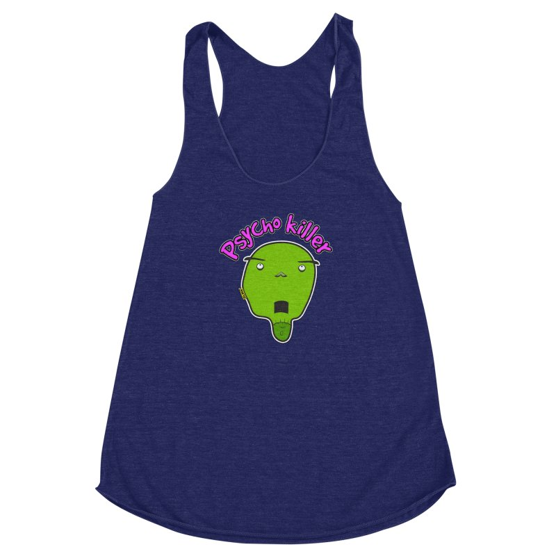 Psycho killer (alone) Women's Racerback Triblend Tank by mrdelman's Artist Shop