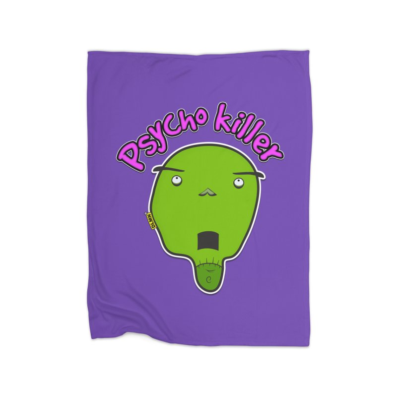 Psycho killer (alone) Home Fleece Blanket Blanket by mrdelman's Artist Shop