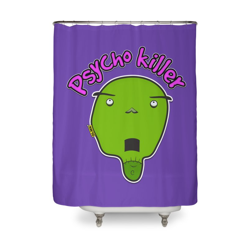 Psycho killer (alone) Home Shower Curtain by mrdelman's Artist Shop