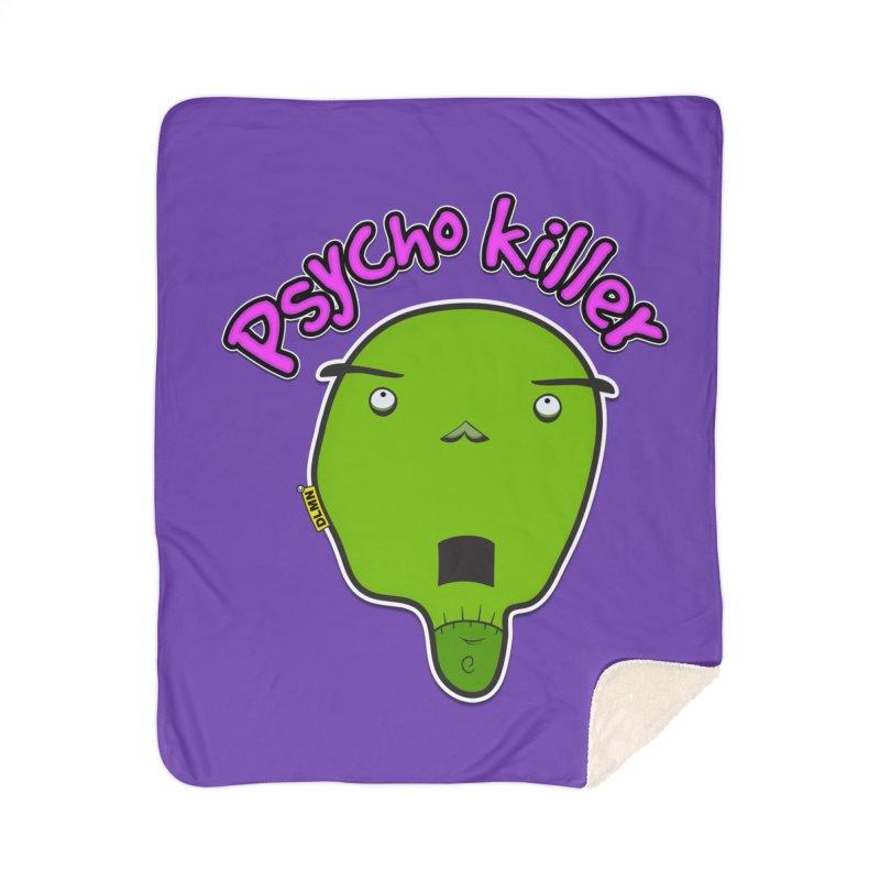 Psycho killer (alone) Home Sherpa Blanket Blanket by mrdelman's Artist Shop
