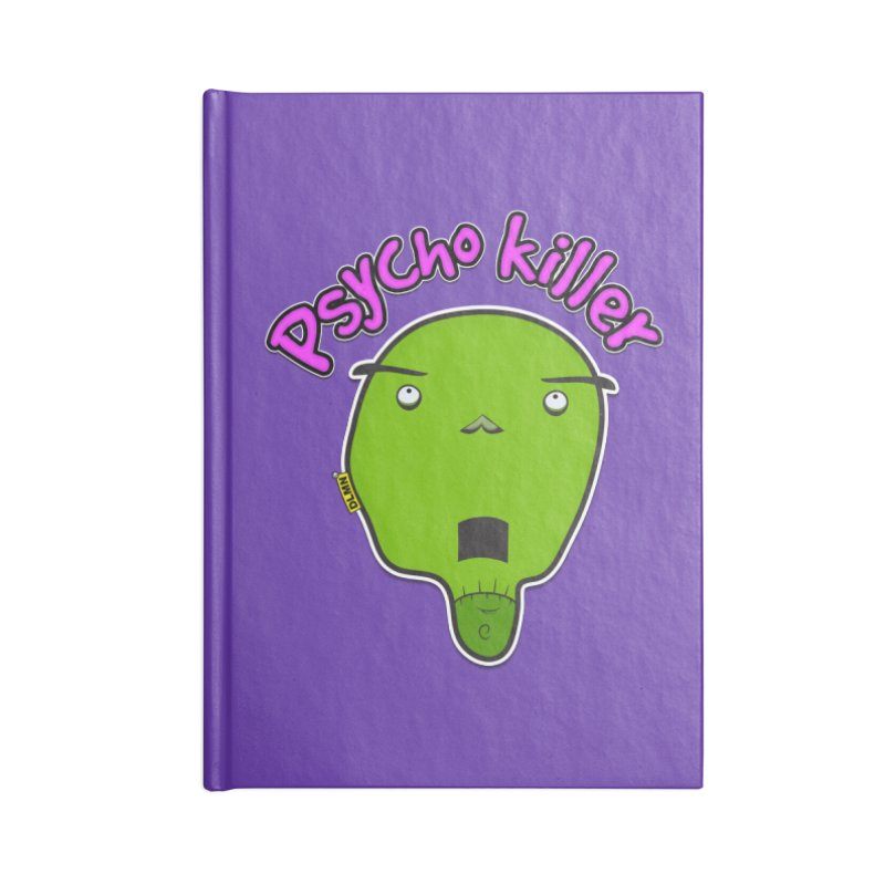 Psycho killer (alone) Accessories Blank Journal Notebook by mrdelman's Artist Shop