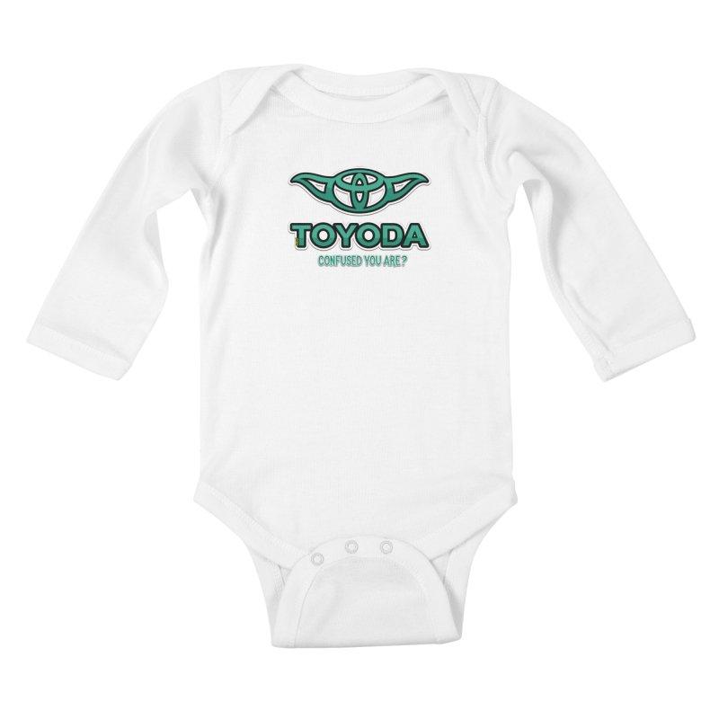 TOYODA ... Confused you are? Kids Baby Longsleeve Bodysuit by mrdelman's Artist Shop