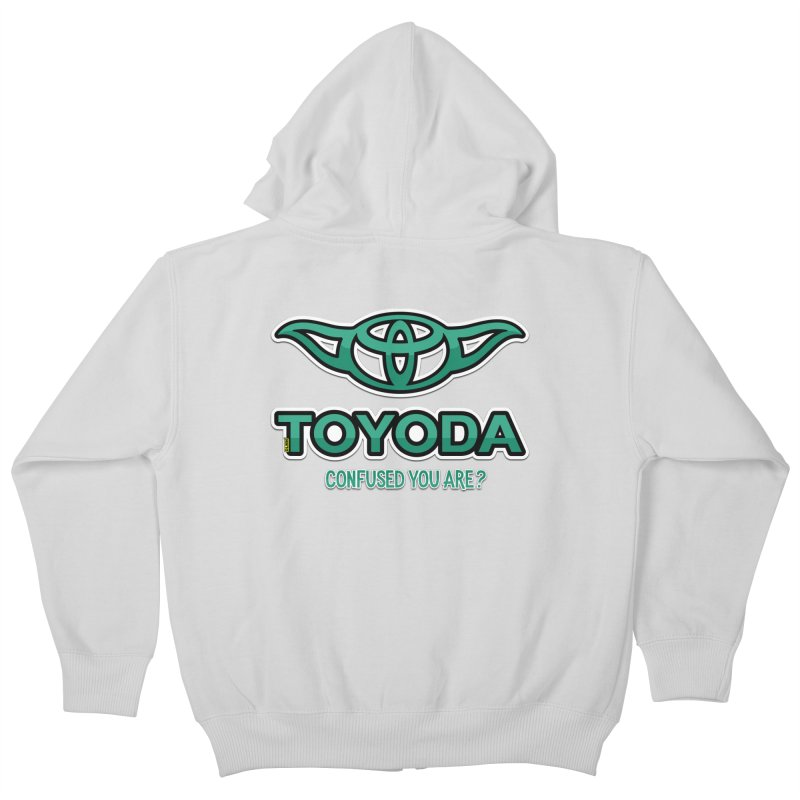 TOYODA ... Confused you are? Kids Zip-Up Hoody by mrdelman's Artist Shop