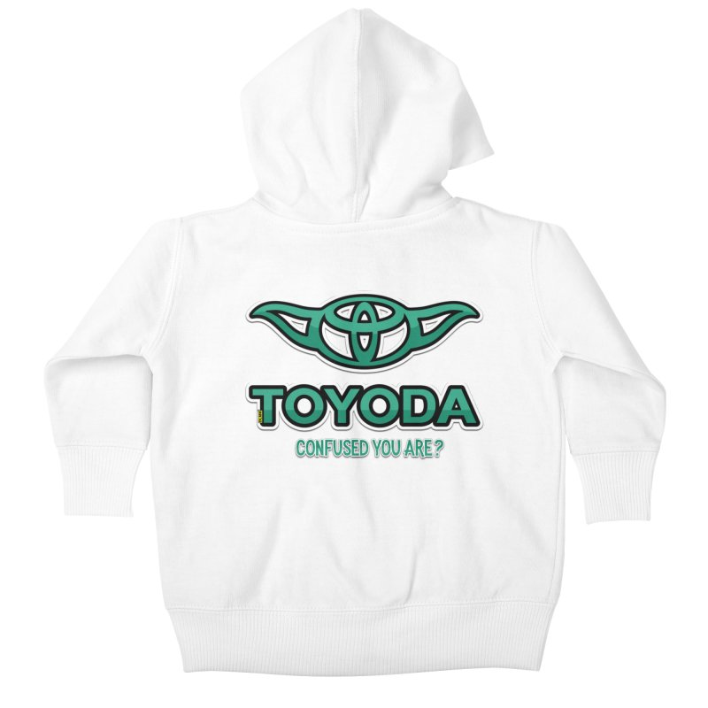 TOYODA ... Confused you are? Kids Baby Zip-Up Hoody by mrdelman's Artist Shop
