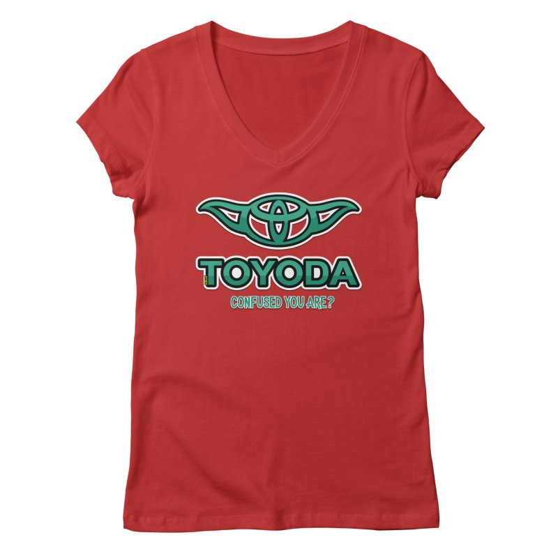 TOYODA ... Confused you are? Women's Regular V-Neck by mrdelman's Artist Shop