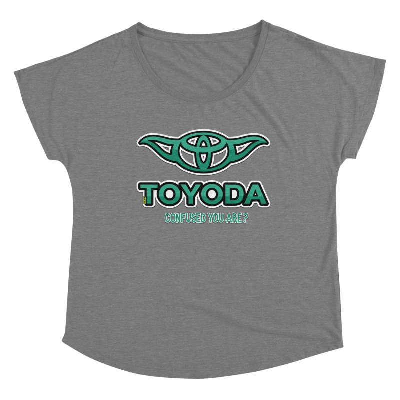 TOYODA ... Confused you are? Women's Scoop Neck by mrdelman's Artist Shop