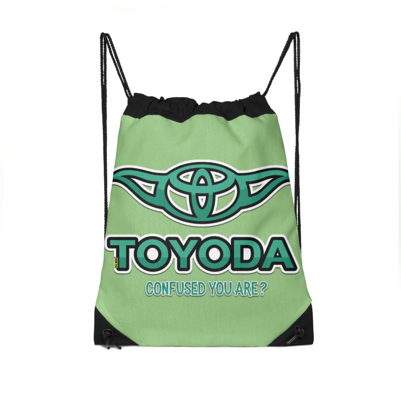 TOYODA ... Confused you are? Accessories Drawstring Bag Bag by mrdelman's Artist Shop