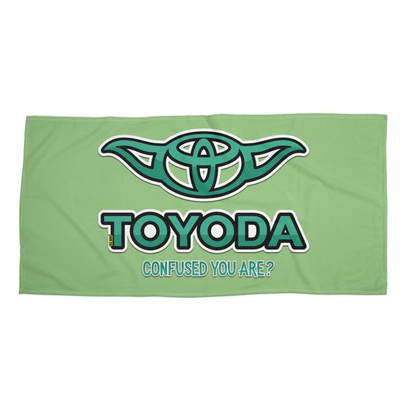 TOYODA ... Confused you are? Accessories Beach Towel by mrdelman's Artist Shop