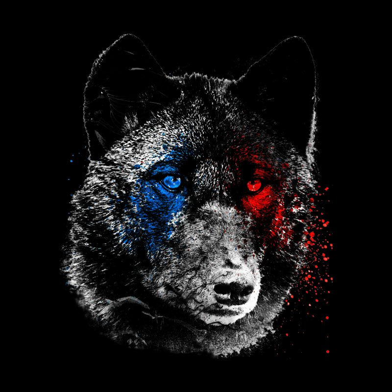 3d Wolf Men's T-Shirt by Misterdressup