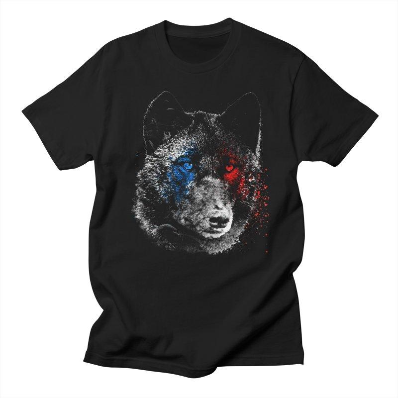 3d Wolf in Men's Regular T-Shirt Black by Misterdressup