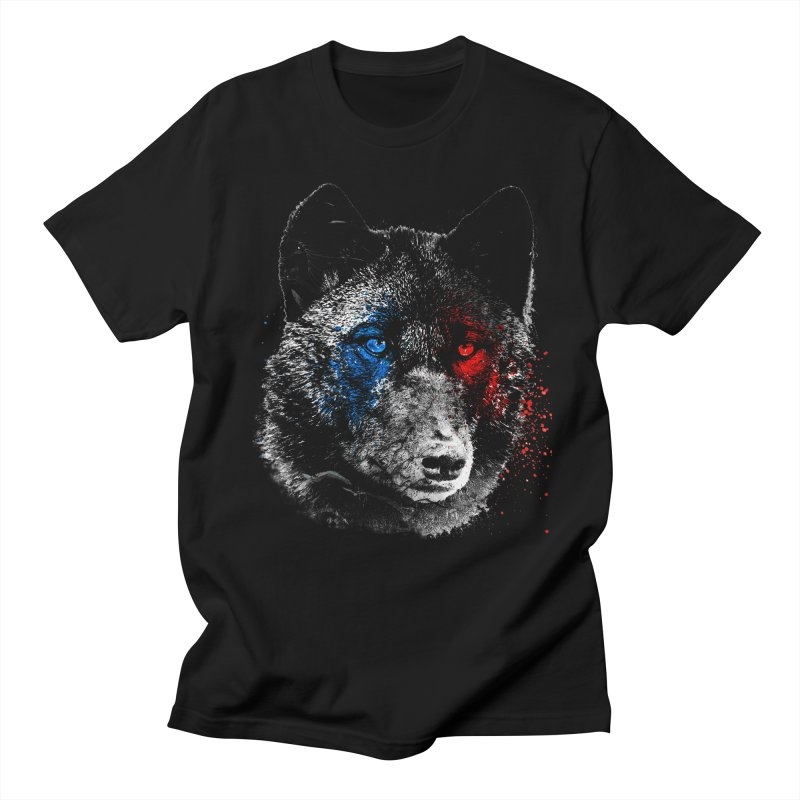 3d Wolf in Men's T-Shirt Black by Misterdressup