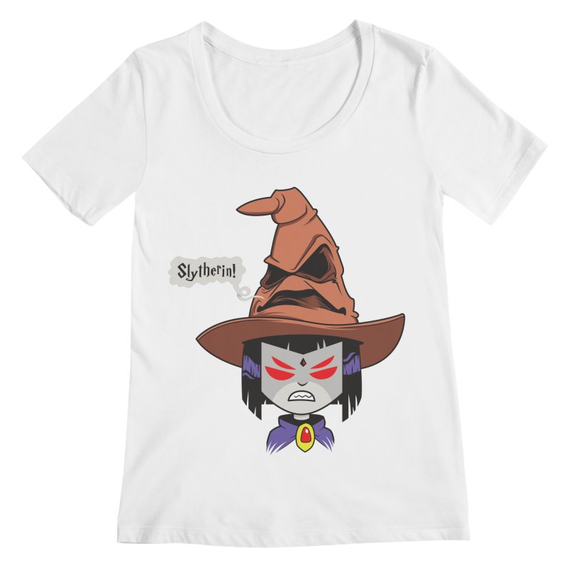 Slytherin?! Women's Scoopneck by mreiselshop's Artist Shop