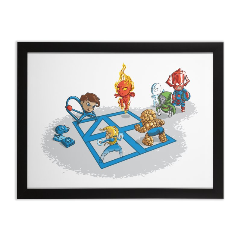 Fantastic 4 Square Home Framed Fine Art Print by mreiselshop's Artist Shop