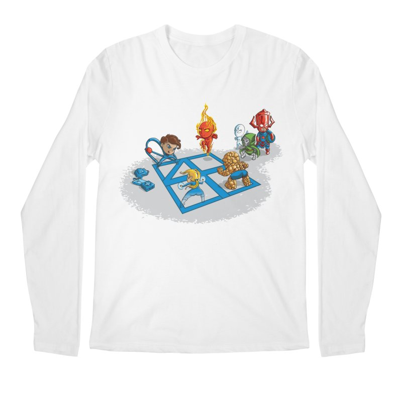 Fantastic 4 Square Men's Longsleeve T-Shirt by mreiselshop's Artist Shop