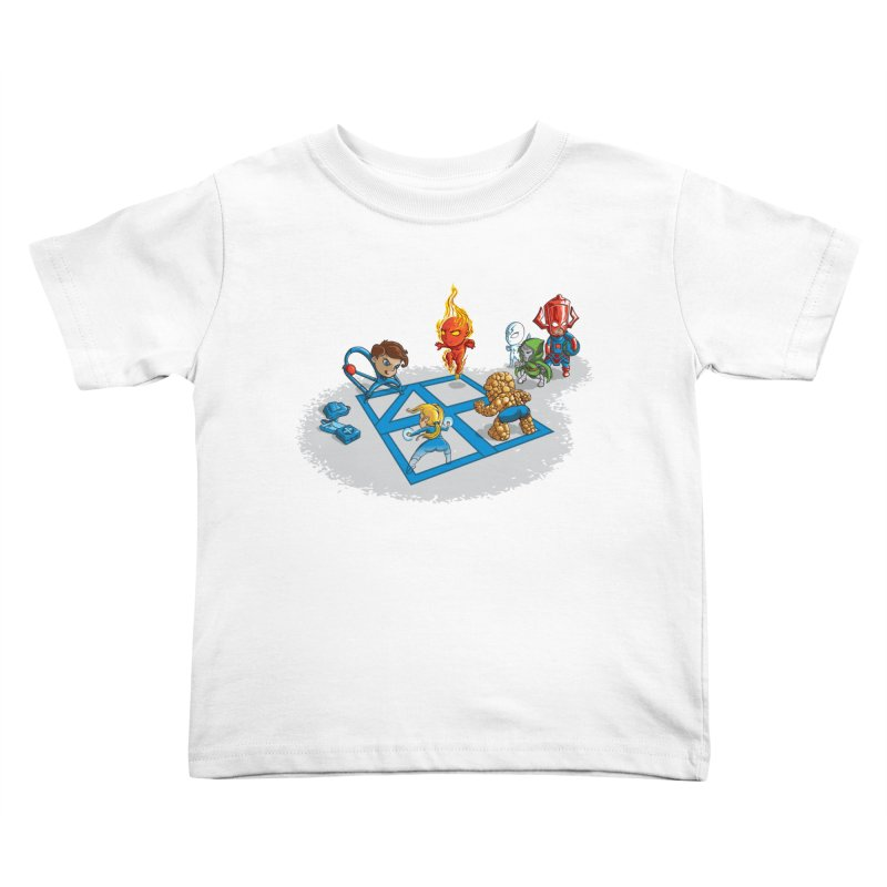 Fantastic 4 Square Kids Toddler T-Shirt by mreiselshop's Artist Shop