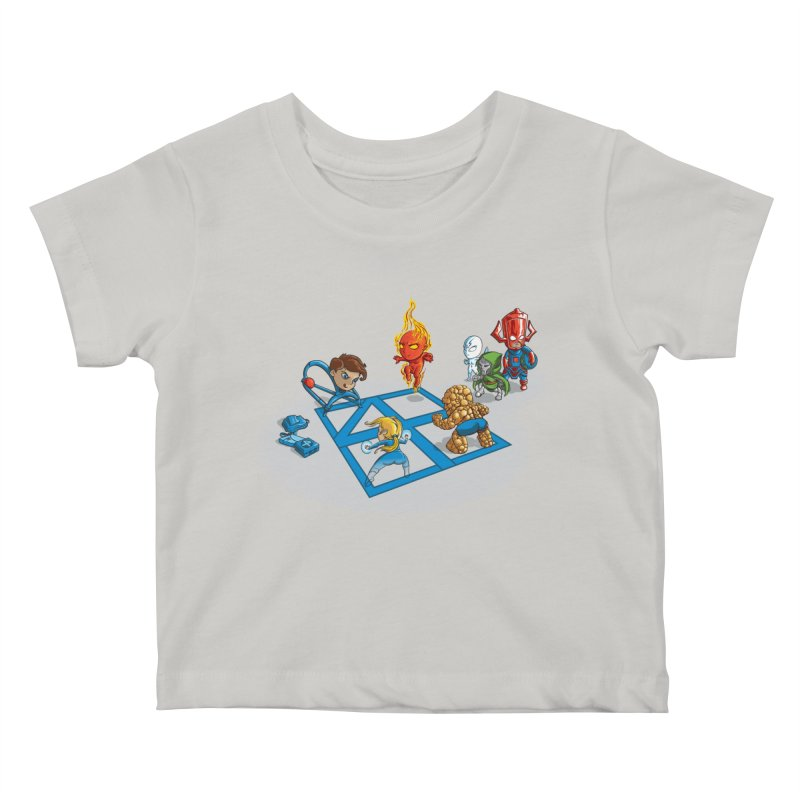 Fantastic 4 Square Kids Baby T-Shirt by mreiselshop's Artist Shop
