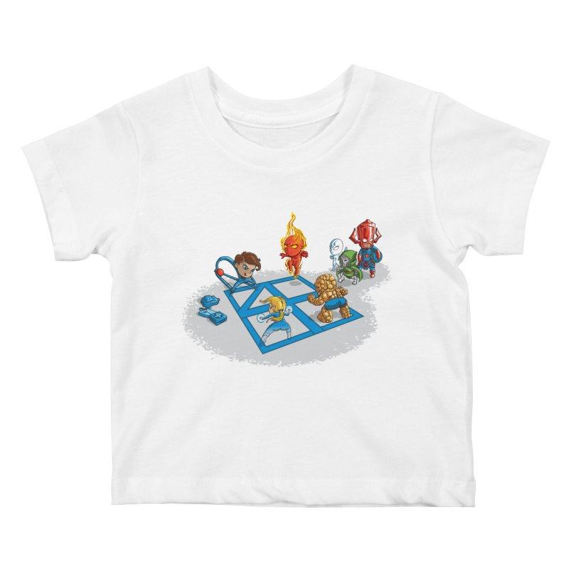 Fantastic 4 Square Kids Baby T-Shirt by mreiselshop's Artist Shop