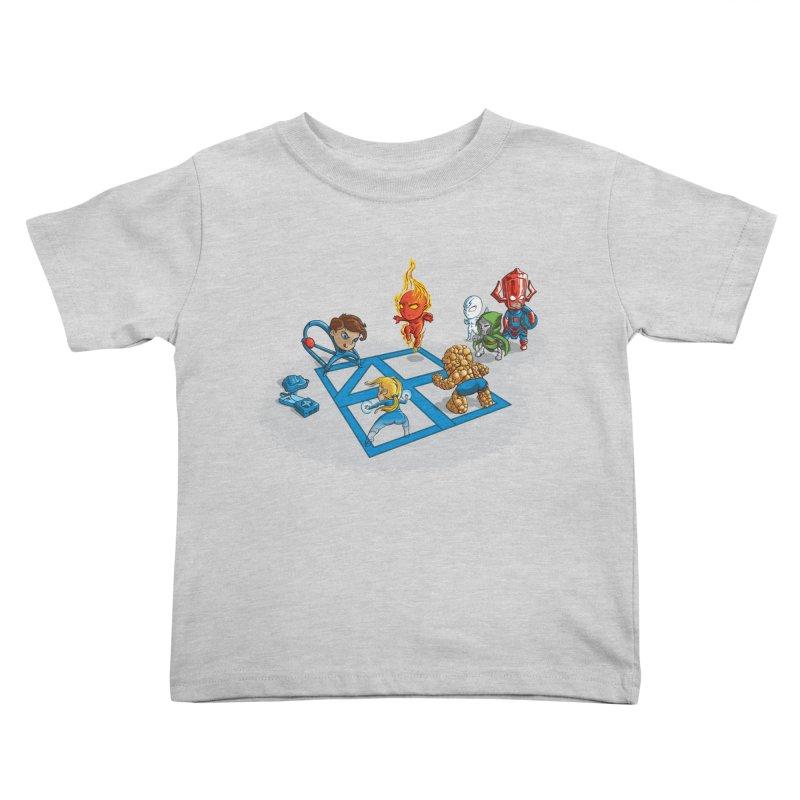 Fantastic 4 Square Kids Toddler T-Shirt by mreiselshop's Artist Shop