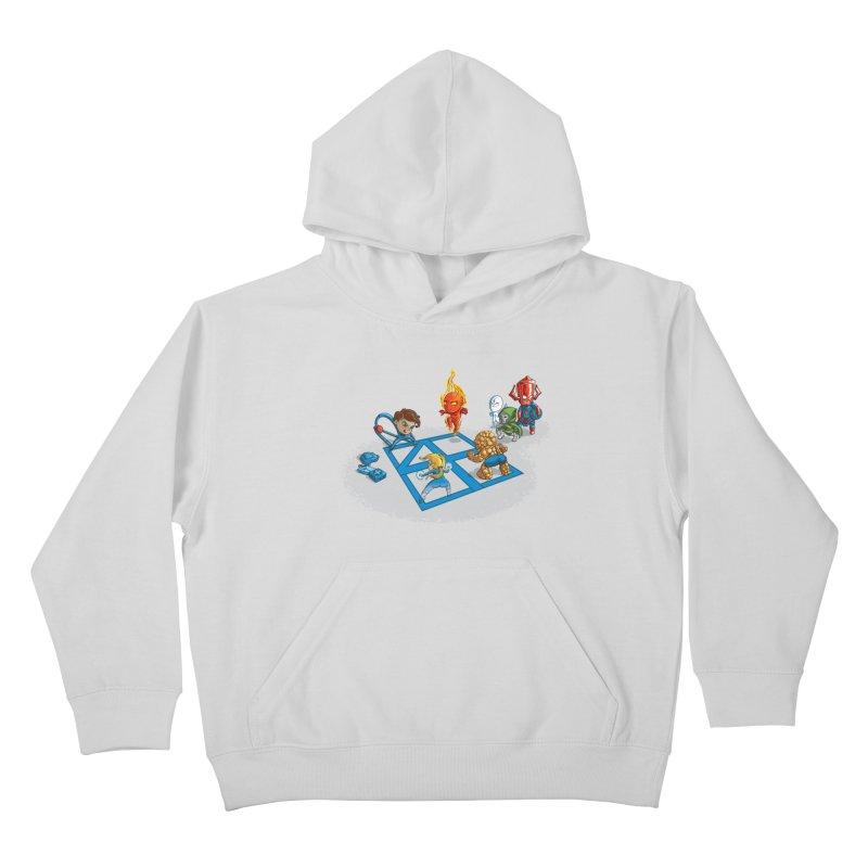 Fantastic 4 Square Kids Pullover Hoody by mreiselshop's Artist Shop