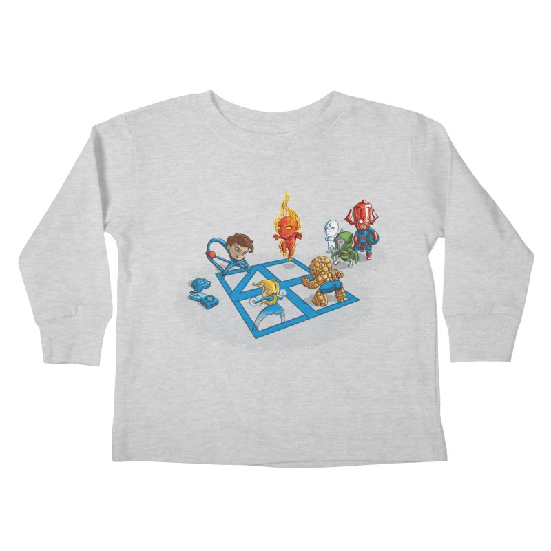 Fantastic 4 Square Kids Toddler Longsleeve T-Shirt by mreiselshop's Artist Shop