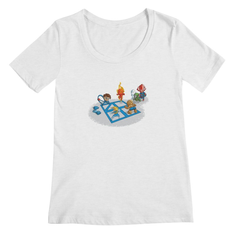 Fantastic 4 Square Women's Scoopneck by mreiselshop's Artist Shop