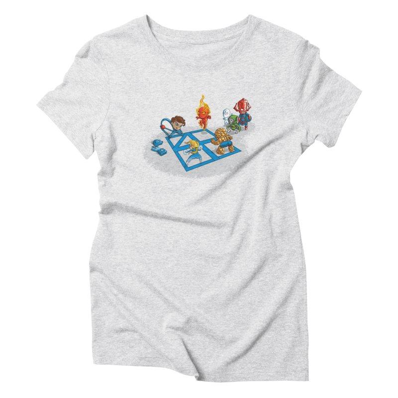 Fantastic 4 Square Women's Triblend T-Shirt by mreiselshop's Artist Shop