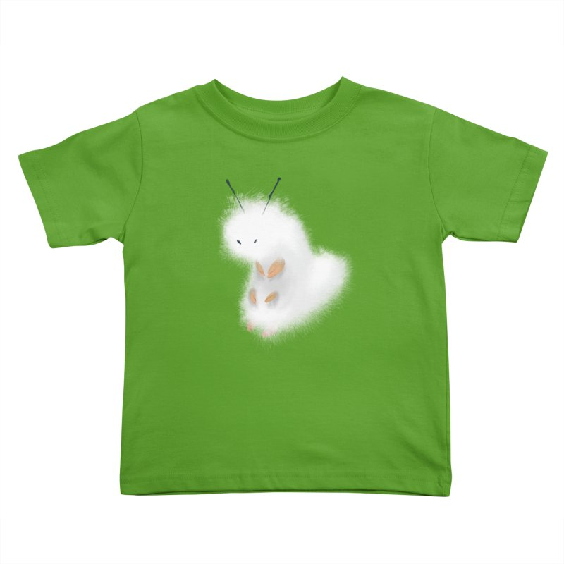 Fuzzy White Caterpillar Kids Toddler T-Shirt by mrjaymyers tees and things