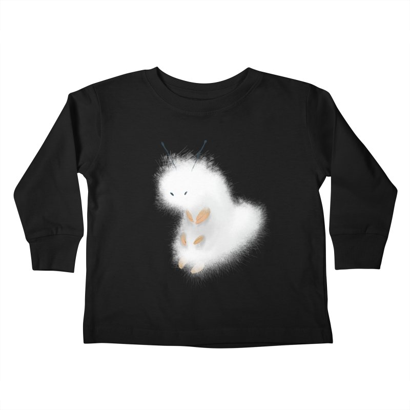 Fuzzy White Caterpillar Kids Toddler Longsleeve T-Shirt by mrjaymyers tees and things
