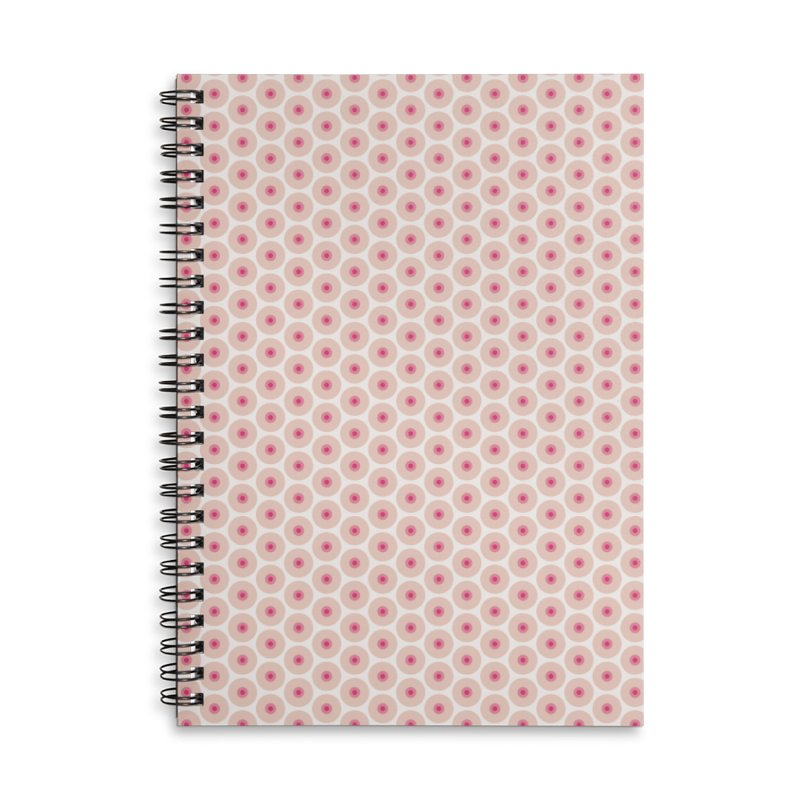 Tits Motif Pattern Accessories Lined Spiral Notebook by Mr Loco Motif