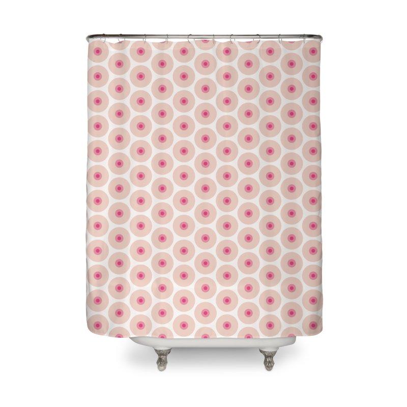 Tits Motif Pattern Home Shower Curtain by Mr Loco Motif - Artist Shop