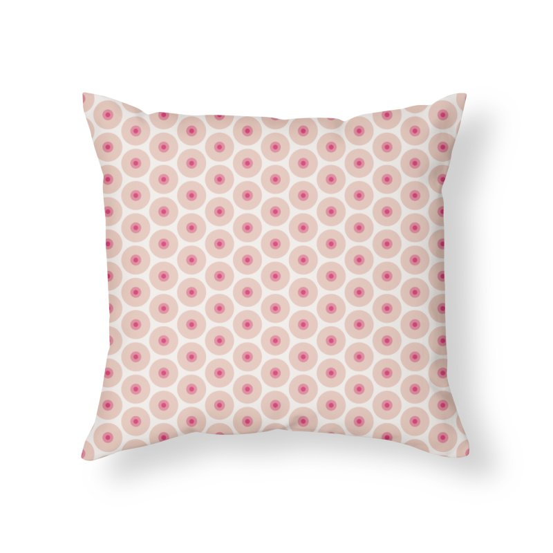 Tits Motif Pattern Home Throw Pillow by Mr Loco Motif