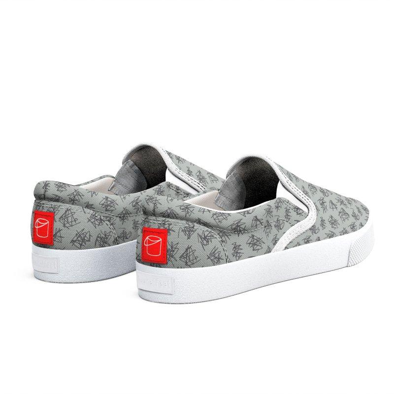 Scribble Motif Pattern Men's Shoes by Mr Loco Motif