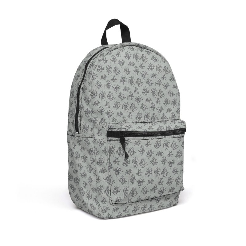 Scribble Motif Pattern Accessories Backpack Bag by Mr Loco Motif