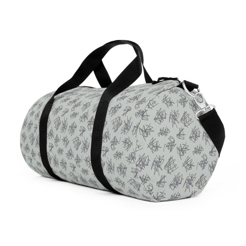 Scribble Motif Pattern Accessories Duffel Bag Bag by Mr Loco Motif