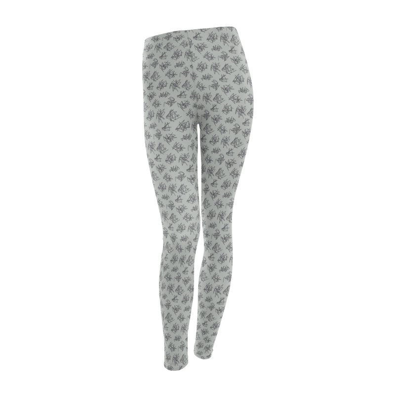 Scribble Motif Pattern Women's Leggings Bottoms by Mr Loco Motif