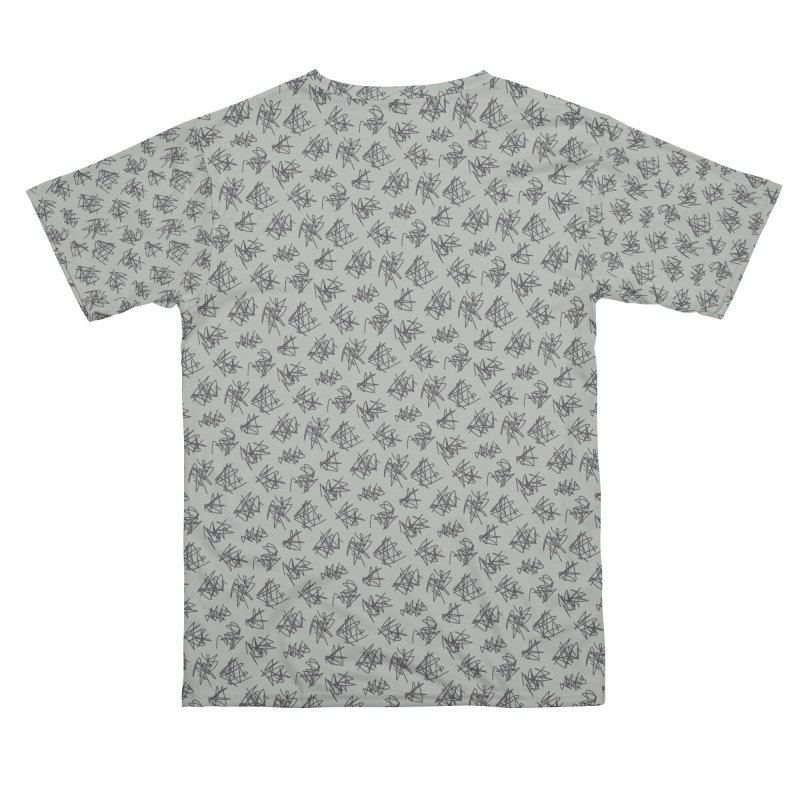 Scribble Motif Pattern Men's Cut & Sew by Mr Loco Motif