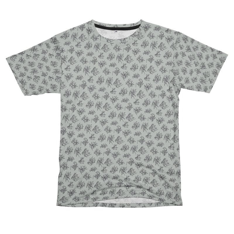 Scribble Motif Pattern Women's Unisex T-Shirt Cut & Sew by Mr Loco Motif