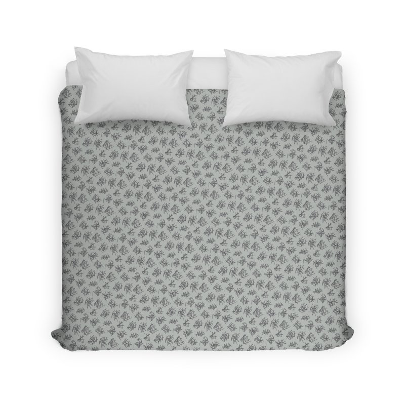 Scribble Motif Pattern Home Duvet by Mr Loco Motif - Artist Shop