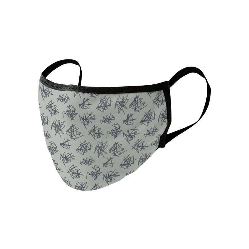 Scribble Motif Pattern Accessories Face Mask by Mr Loco Motif