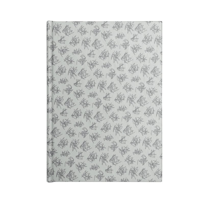 Scribble Motif Pattern Accessories Lined Journal Notebook by Mr Loco Motif - Artist Shop