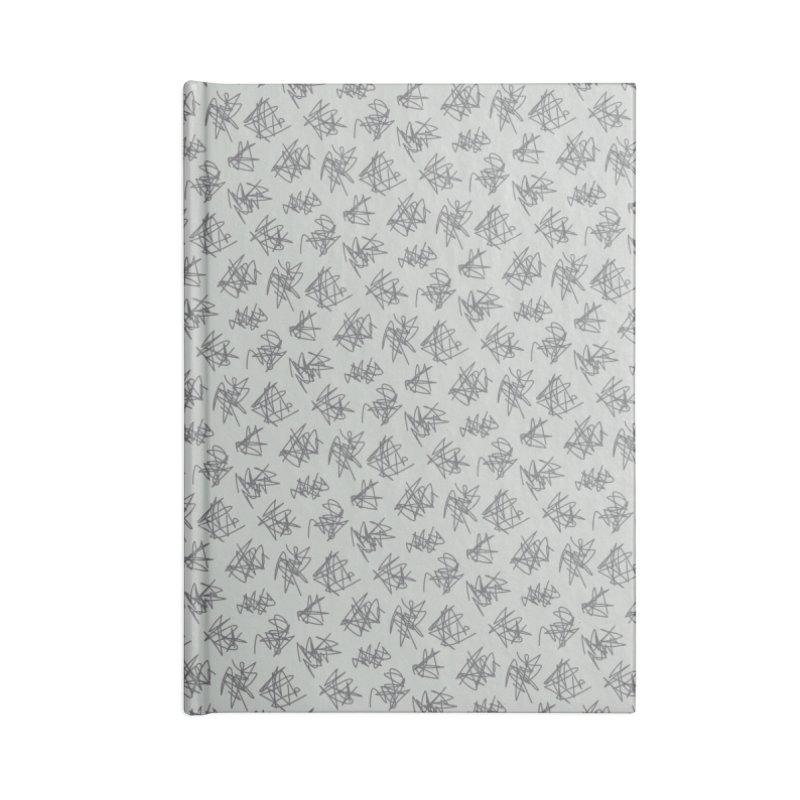 Scribble Motif Pattern Accessories Blank Journal Notebook by Mr Loco Motif - Artist Shop