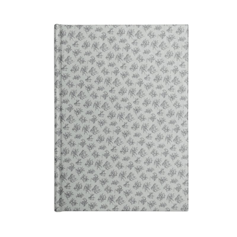 Scribble Motif Pattern Accessories Blank Journal Notebook by Mr Loco Motif
