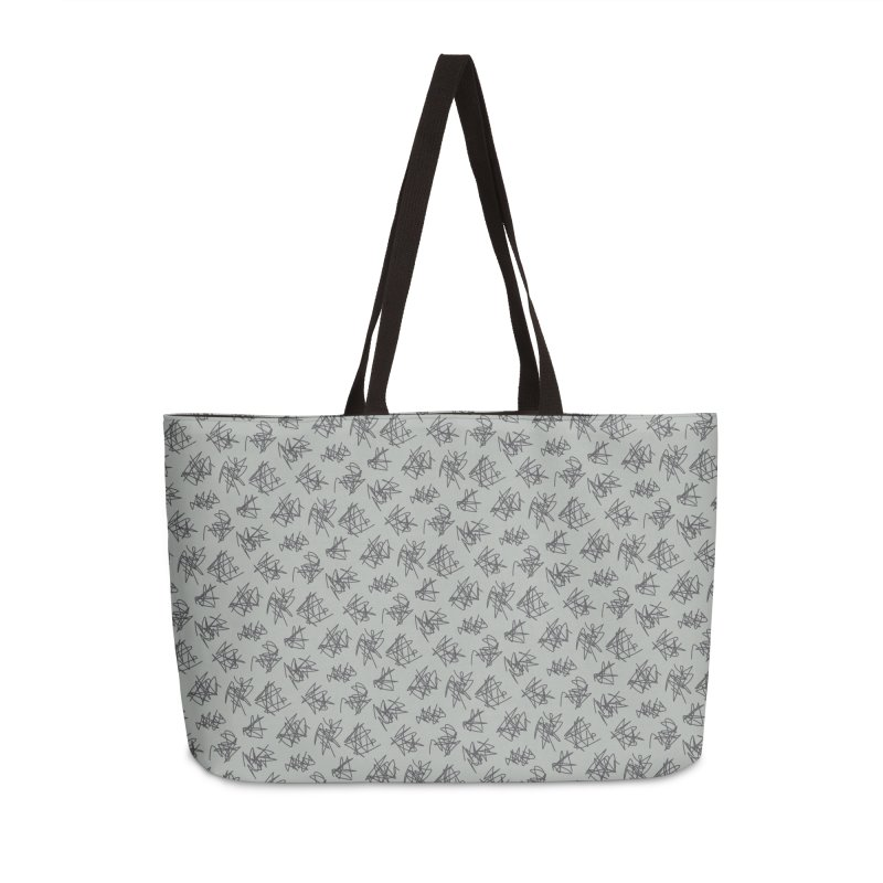 Scribble Motif Pattern Accessories Weekender Bag Bag by Mr Loco Motif