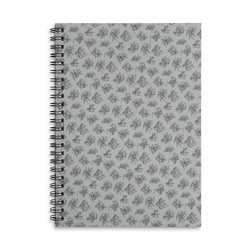 Scribble Motif Pattern Accessories Lined Spiral Notebook by Mr Loco Motif - Artist Shop