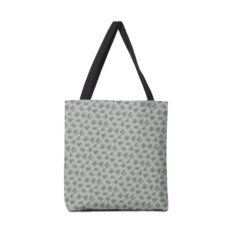 Scribble Motif Pattern Accessories Tote Bag Bag by Mr Loco Motif