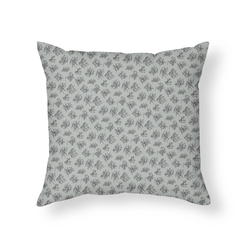 Scribble Motif Pattern Home Throw Pillow by Mr Loco Motif