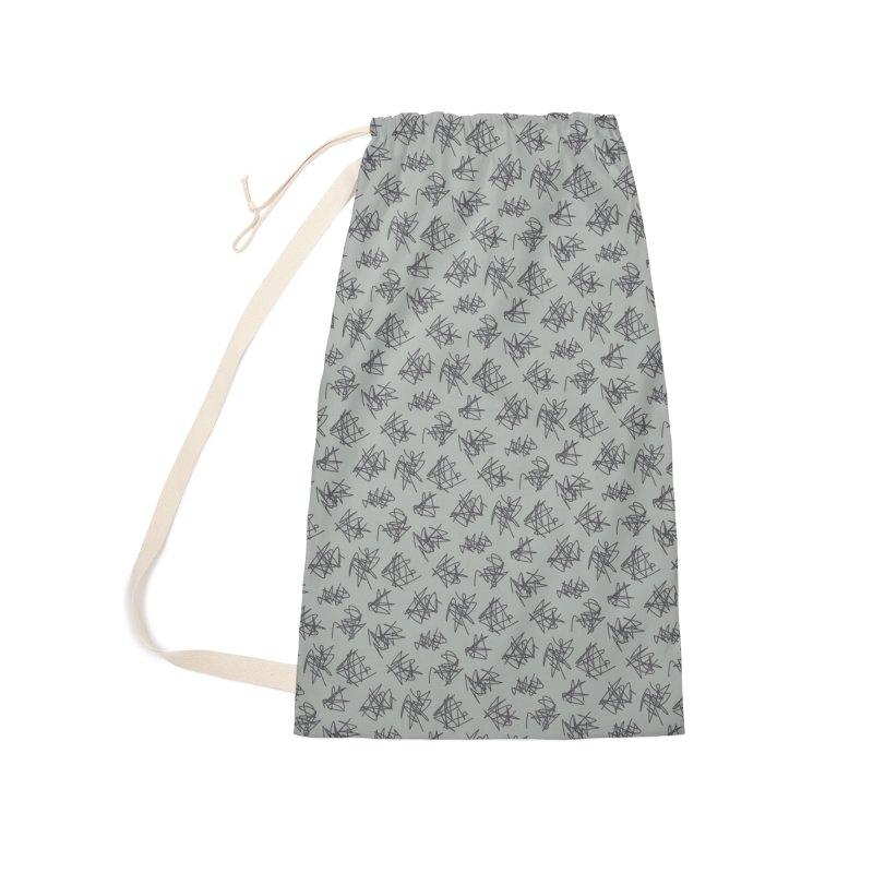 Scribble Motif Pattern Accessories Bag by Mr Loco Motif