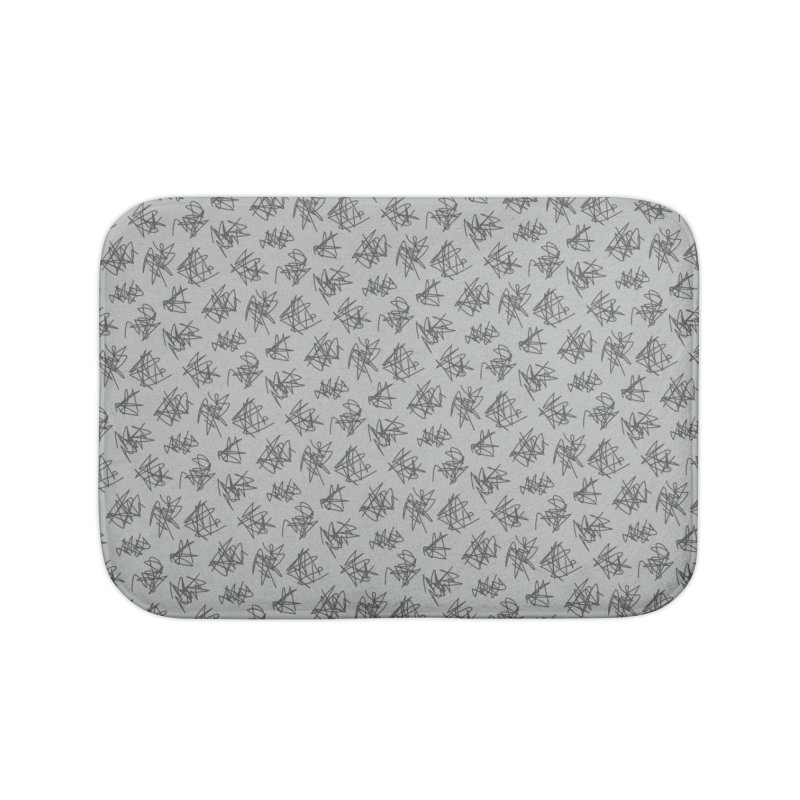 Scribble Motif Pattern Home Bath Mat by Mr Loco Motif