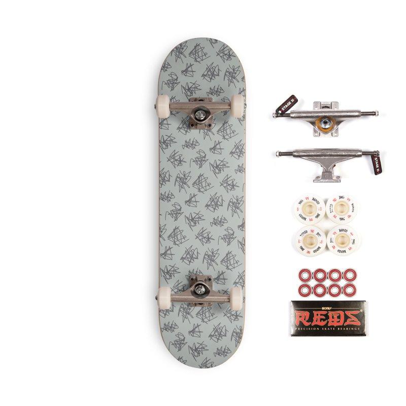 Scribble Motif Pattern Accessories Complete - Pro Skateboard by Mr Loco Motif - Artist Shop